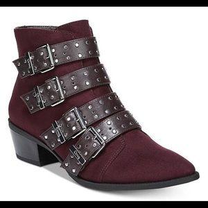 NWT San Edelman Burgundy Boots size 9